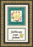 "Graduation with Saying  Real Dried Flowers Framed Gift 5"" X  7"""