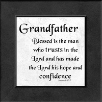 """Grandfather Scripture Verse Gift Frame 4.5"""" X 4.5"""" with Easel"""