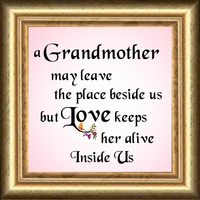 "Grandmother Saying Gift Frame 4.5"" X 4.5"" with Easel"