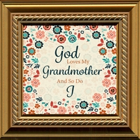 "Grandmother Saying Gift Frame 5"" X 5"" with Easel"