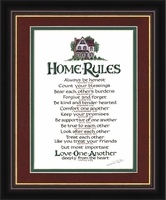 """Home Rules - 12"""" x 14"""""""