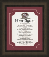 """Home Rules - 13.5"""" X 15.5"""""""