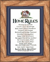 """Home Rules - 8"""" x 10"""""""