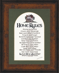 Home Rules in Rustic Walnut