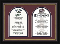 """Home Rules & Love is Patient - 9."""" X 13."""""""