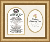 "Home Rules Photo Frame - 9""x11"""