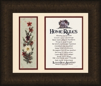 """Home Rules with Dried Flowers - 12"""" x 14"""""""