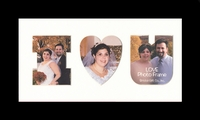 "I Love (heart) You Photo Frame 7.5"" x 13.5"" Black Framed Photo Mat"