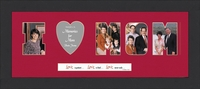 "I LOVE MOM PHOTO FRAME 10"" X 22"""