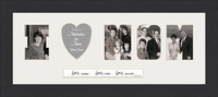 "I LOVE MOM Word Photo Frame 10"" X 22"""