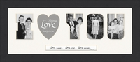 "I LOVE YOU Word Photo Frame 10"" X 22"""