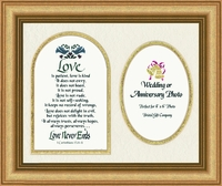 "Love Is Patient Photo Frame  9"" X 11"""