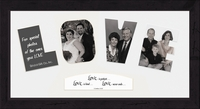 "Love Photo Mat 9"" x 17"" Black Solid Wood Frame"