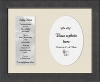 "Memorial Poem Safely Home Photo Gift Frame 8.5"" X 10.5"""