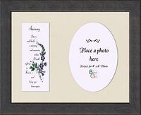 "Memorial Poem Stairway to Heaven Photo Gift Frame 8.5"" X 10.5"""