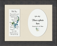 "Memorial Poem Well Done Photo Gift Frame 8.5"" X 10.5"""
