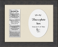 "Memorial Poem Your Gentle Face Photo Gift Frame 8.5"" X 10.5"""