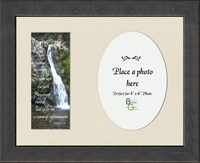 "Memorial Scripture Photo Gift Frame 8.5"" X 10.5"""