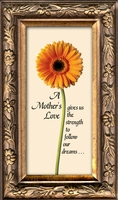 "Mother Inspirational Poem Framed Gift 2.5"" X 5"" with Built in Easel"