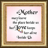 "Mother Saying Gift Frame 4.5"" X 4.5"" with Easel"