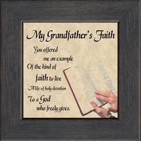 """My Grandfather's Faith Saying Gift Frame 4.5"""" X 4.5"""" with Easel"""