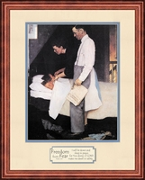Norman Rockwell Freedom from Fear Framed