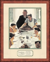 Norman Rockwell Freedom from Want Framed