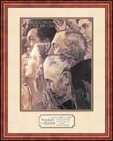 Norman Rockwell FREEDOM to WORSHIP Framed