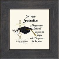 "On Your Graduation Inspirational Framed Gift 4.5"" X 4.5"" with Built in Easel"