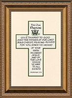 """Pastor Inspiration Saying based on Scripture in Gold Frame Gift 10"""" X 14"""""""