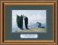 """Prayer Attributes Christian Classic Art In Gold Frame with Scripture  12"""" X 16"""""""