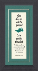 """Qualified Saying with Scripture Verse Framed Gift 3.5"""" X 7"""""""