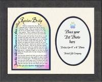 "Rainbow Bridge Pet Memorial Photo Frame 9"" x 11"" Gift for Remembrance, Encouragement and Comfort"