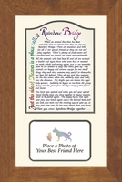 "Rainbow Bridge with Best Friend Pet Photo Gift 8"" X 13"""