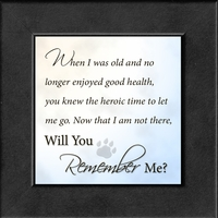 "Remember Me Framed Gift 4.5"" x 4.5"""