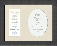"Remember Me Pet Memorial Photo Frame 8"" X 10"""