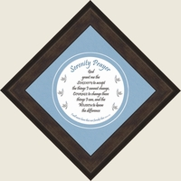 "Serenity Prayer Framed Ready for Wall Display 8"" X 8"""