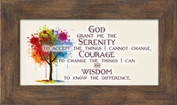 "Serenity Prayer Framed Gift 2.5"" X 5"" With Built in Easel"