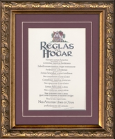 """Spanish Christian Home Rules with Scripture 7"""" X 9"""""""