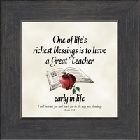 """Teacher Appreciation Gift Framed 3.5"""" X 3.5"""" with Easel"""