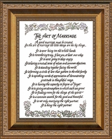 "The Art of Marriage Poem Frame Gallery Deep Inset Antique Gold Finish 8"" X 10"""