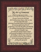 "The Art of Marriage Poem Framed Gift 6.5"" X 8.5"""