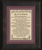 "The Art of Marriage Poem Framed Gift 8.5"" X 10.5"""