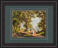 """The Road to Emmaus Art Frame 13.5 X 16.5"""""""
