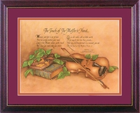 TOUCH OF the MASTER'S Hand Poem Framed