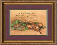 """Touch of the Master's Hand Poem Music Art in Gold Frame 11"""" X 14"""""""