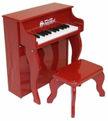 25 Key Elite Spinet Piano in Red by Schoenhut