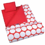 Big Dot Red & White Original Sleeping Bag by Wildkin