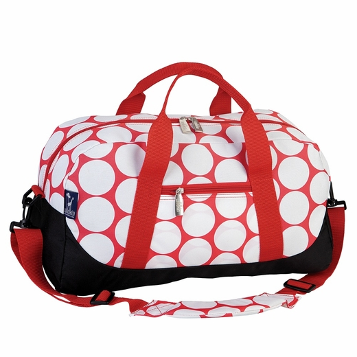 Big Dot Red & White Sleepover Duffel by Wildkin