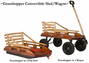 Grasshopper Convertible Wagon and Sled in One by Mountain Boy Sledworks